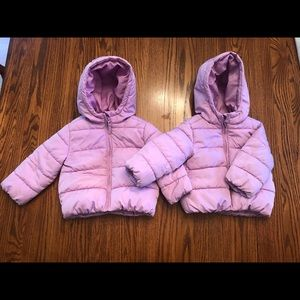 Two Lilac  Puffer Jackets